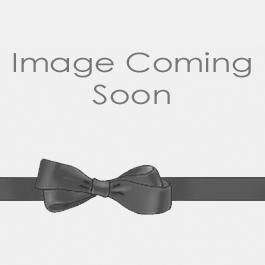 Wire Edge Sheer Isadora Plaid Ribbon Silver/White